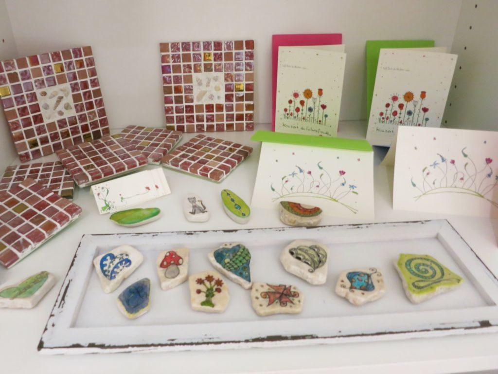Postkarten und Magnete